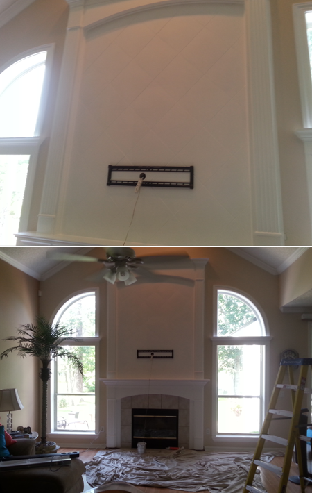 New Mantel in a Nice House in Jacksonville, FL