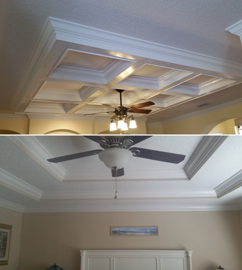 Tray ceiling molding in jacksonville fl whole home for Tray ceiling trim ideas